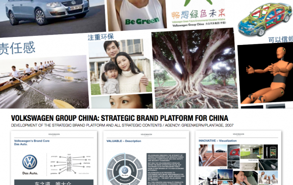 VOLKSWAGEN GROUP CHINA: BRAND PLATFORM FOR CHINA