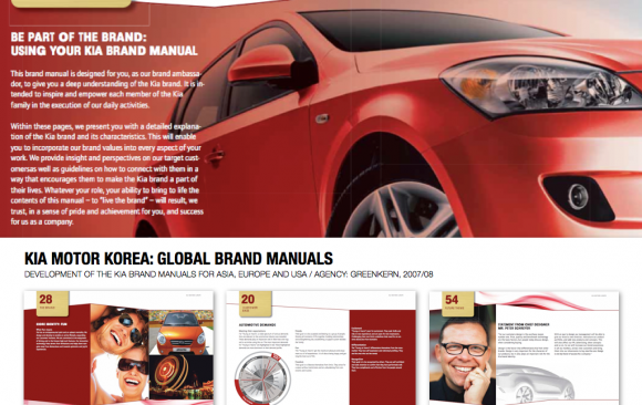 KIA MOTOR KOREA: GLOBAL BRAND MANUALS