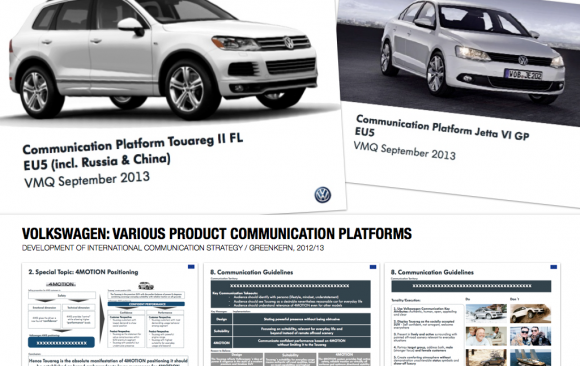 VOLKSWAGEN: VARIOUS PRODUCT COMMUNICATION PLATFORMS