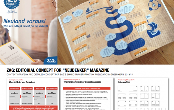 "ZAG: EDITORIAL CONCEPT FOR ""NEUDENKER"" MAGAZINE"
