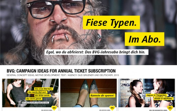 BVG: CAMPAIGN IDEAS FOR ANNUAL TICKET SUBSCRIPTION