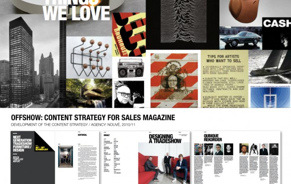 OFFSHOW: CONTENT STRATEGY FOR SALES MAGAZINE