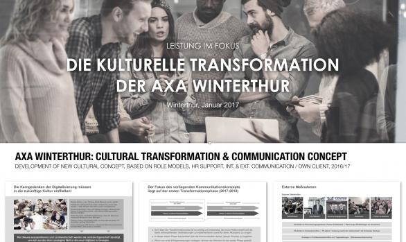 AXA: CULTURAL TRANSFORMATION CONCEPT