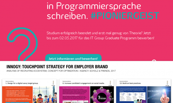 innogy: Touchpoint Strategy for HR brand