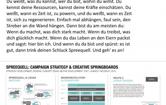 spreequell: Campaign strategy & creative springboards