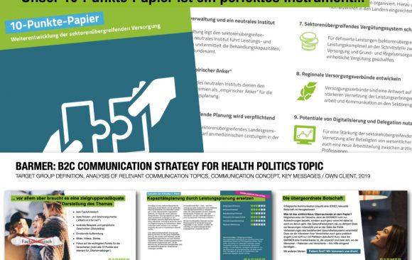 BARMER: B2C COMMUNICATION STRATEGY FOR HEALTH POLITICS TOPIC
