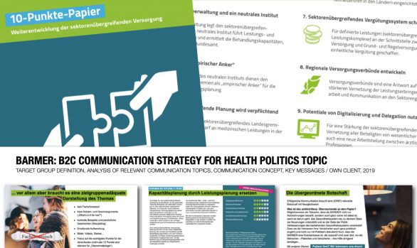 BARMER: B2C COMMUNICATION STRATEGY FOR HEALTH POLITICS TOPIC