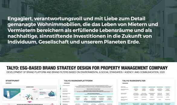 TALYO: ESG-BASED brand STRATEGY DESIGN for property management company